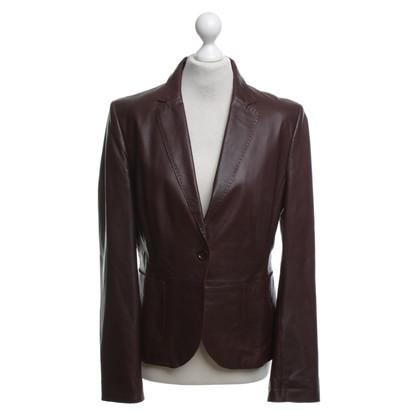 St. Emile Leather blazer in Bordeaux