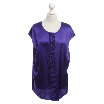 Basler Silk top in dark blue