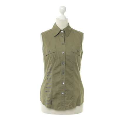 John Galliano Sleeveless shirt in khaki