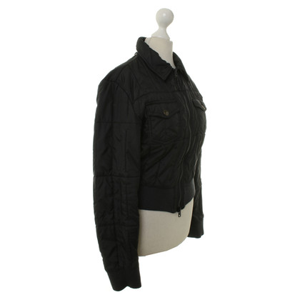 Armani Jeans Short Quilted Jacket in anthracite