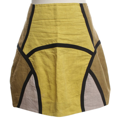 Marni Linen skirt with pattern
