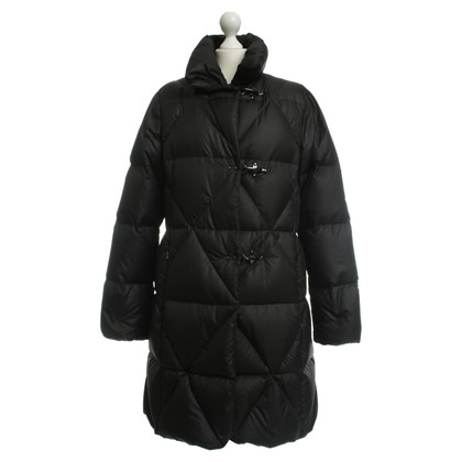 Fay Quilted coat in black