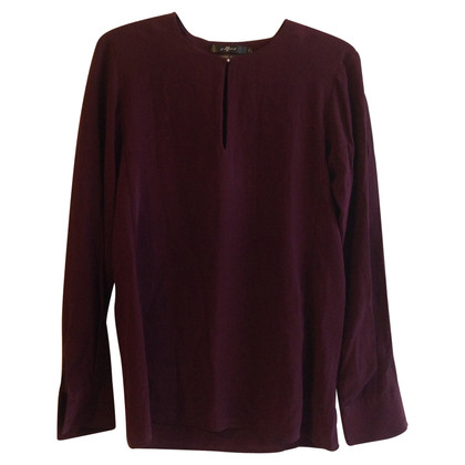 7 For All Mankind Silk blouse in Bordeaux