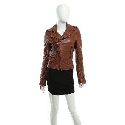 Balenciaga Leather jacket in brown