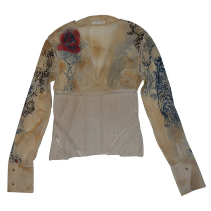 Roberto Cavalli top silk