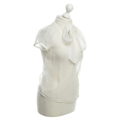 Hugo Boss Bluse in Creme