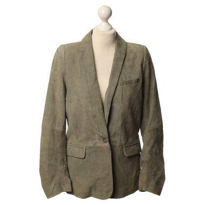 Closed Olive green leather Blazer