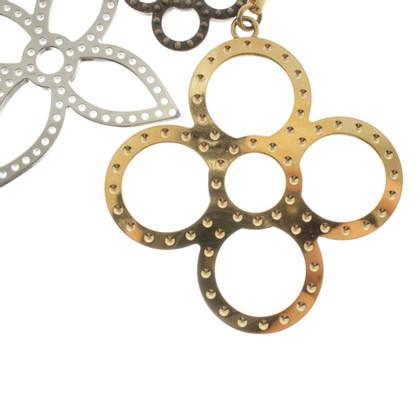 Louis Vuitton pendant with LV flowers
