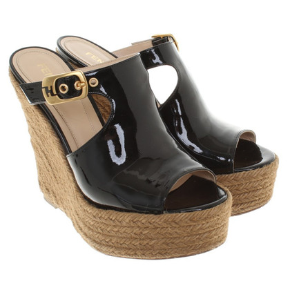 Fendi Sandalen Patent Leather