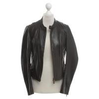 Boss Orange Leather jacket in black