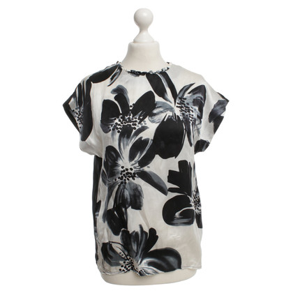 Reiss Silk blouse with a floral pattern