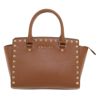 "Michael Kors ""Selma Studded Satchel MD TZ"""