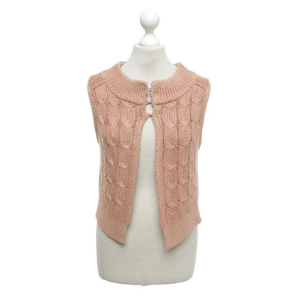 Schumacher Knitted vest in beige / apricot