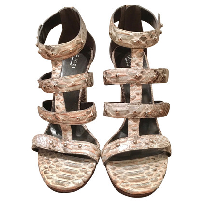 Gucci Sandals made of python leather
