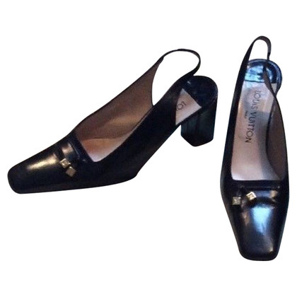 Louis Vuitton Slingbacks in Schwarz