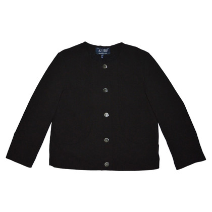Armani Jeans Black Textured Jacket