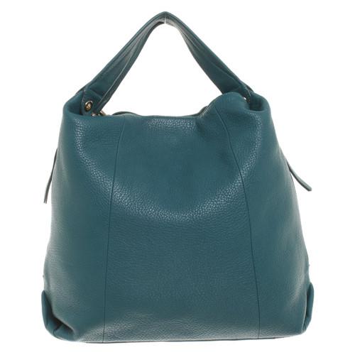 aac50216079b0 Furla Handtasche aus Leder in Petrol - Second Hand Furla Handtasche ...