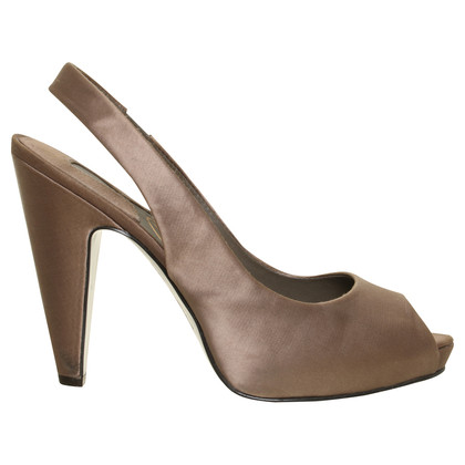 Ash Slingback Peeptoes in Taupe