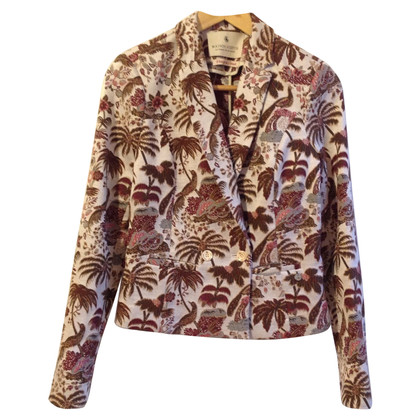 Maison Scotch Blazer in Brocade optics