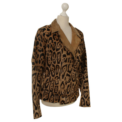 Jitrois Calfskin jacket with Leopard print