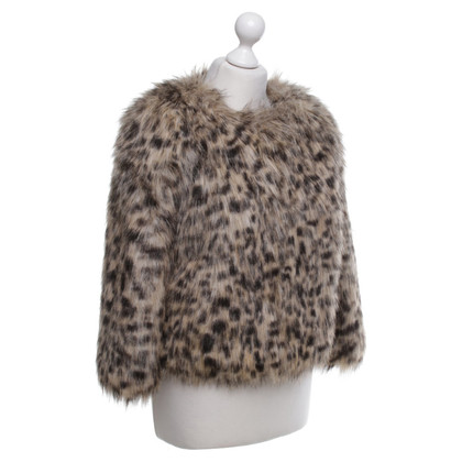 Michael Kors Web fur jacket with animal print