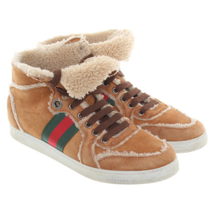Gucci Lined sneakers suede