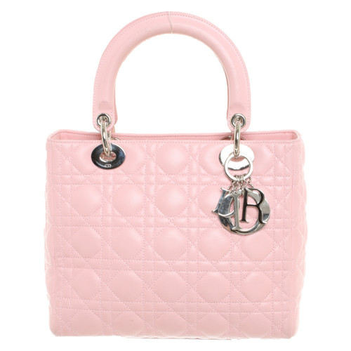 Christian Dior Lady Dior Medium Leather in Pink - Second Hand ... ab6df0e591ac6