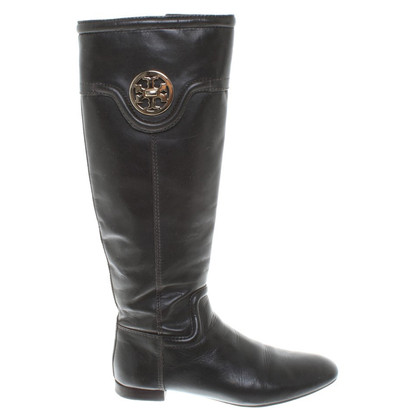 Tory Burch Boots in donkerbruin