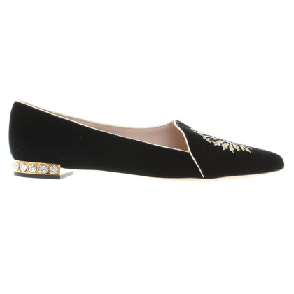 Miu Miu Velvet slippers in bicolor
