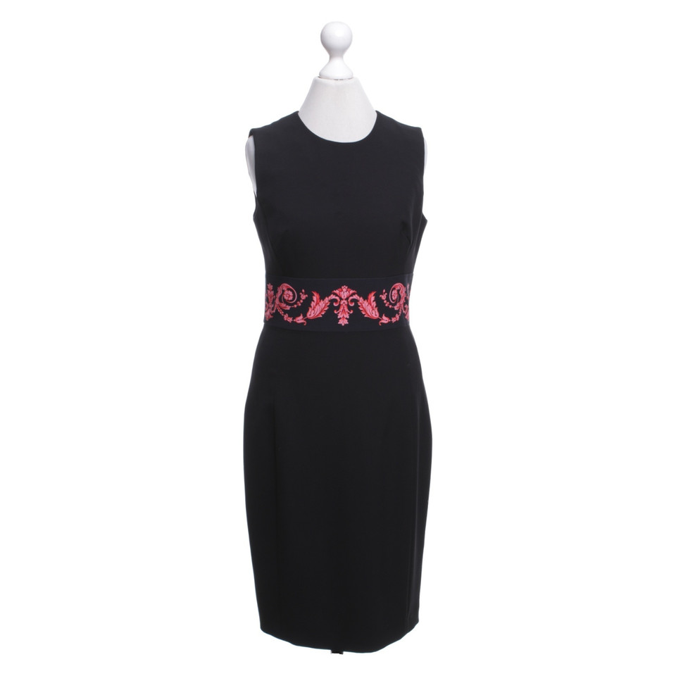 Gianni Versace Sheath dress with coral red border