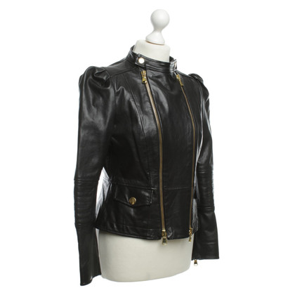 Moschino Cheap and Chic Leather jacket in black