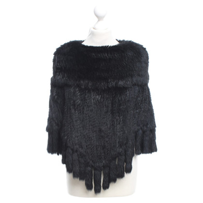 Stefanel Cape from rabbit fur