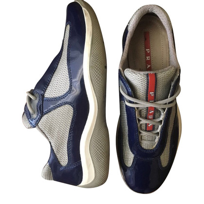 Prada Patent leather shoes blue