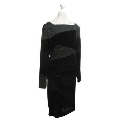 Talbot Runhof Velvet dress with Materialpatch