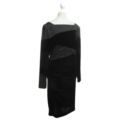 Talbot Runhof Fluwelen jurk met Materialpatch
