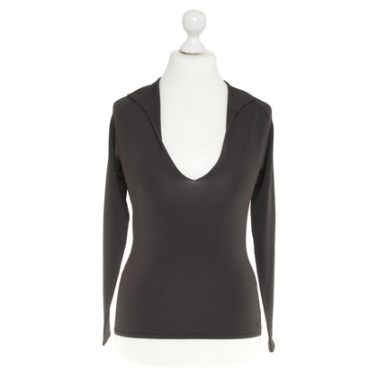 Hugo Boss Geribbelde Top in Gray