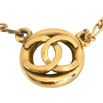 Chanel Vintage Necklace with logo pendant