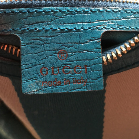 Gucci Schultertasche mit Horsebit-Detail Türkis Neu ZigTWbGTO