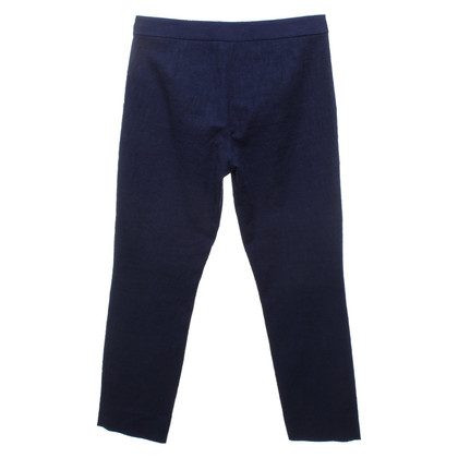 Diane von Furstenberg Pantaloni di cotone blu scuro