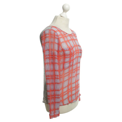 Ella Moss Silk blouse with checked pattern