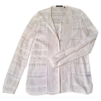 Isabel Marant White blouse with embroidery