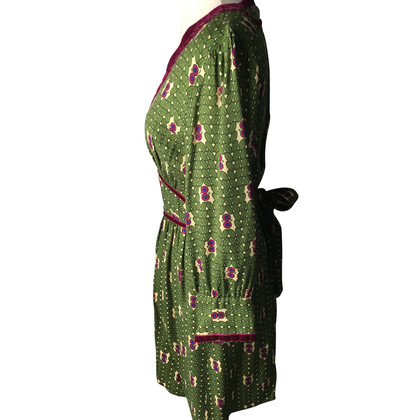 Anna Sui Dress in green/magenta