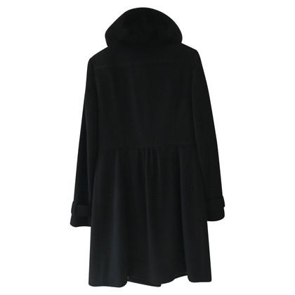 Burberry Wollen jas met bont kraag