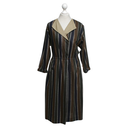 Christian Dior Vintage wrap dress with stripes