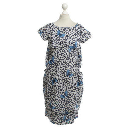 Wunderkind Silk dress with pattern