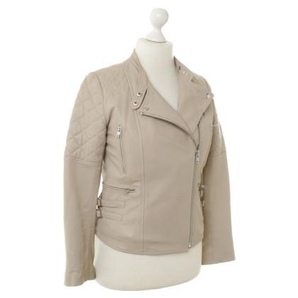 Comptoir des Cotonniers Leather jacket in beige