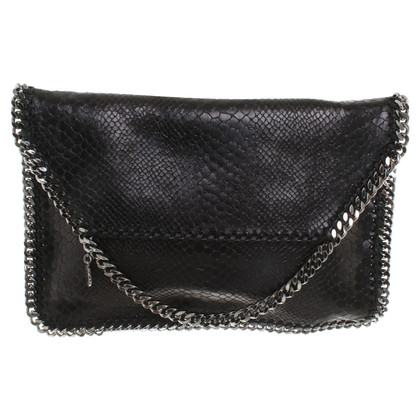 Stella McCartney clutch with link chain adornment