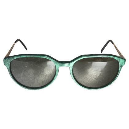 Yves Saint Laurent Occhiali da sole con montatura verde