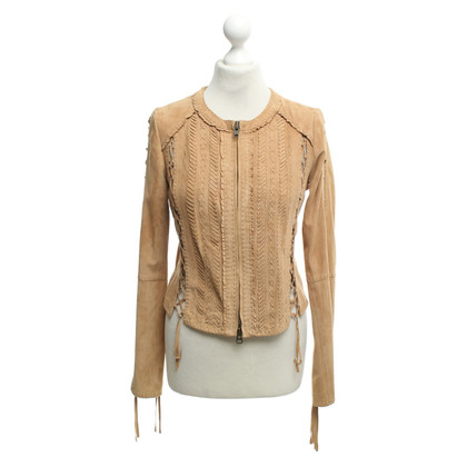Haute Hippie Suede jacket in light brown