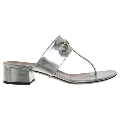 Gucci Sandals in metallic look